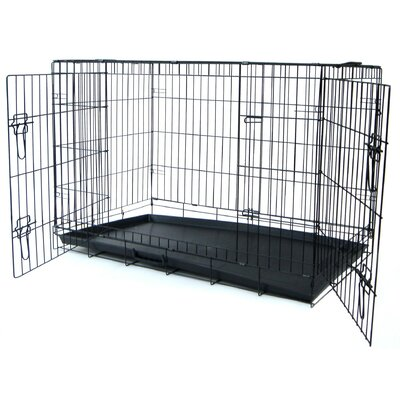 Double Door Heavy Duty Pet Crate Size: 21 H x 19 W x 30 L
