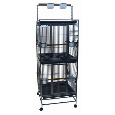 Play Top Double  Bird Cage Color: Antique Silver