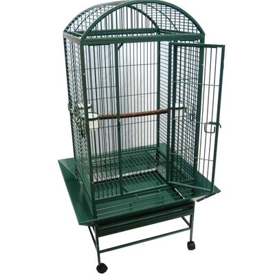 Narrow Dome Top Parrot Bird Cage Color: Green