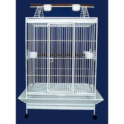 Play Top Parrot Bird Cage Color: White