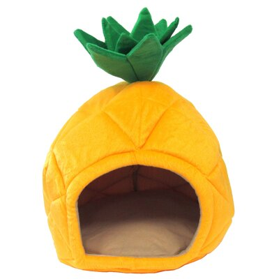 Halloway Pineapple Dog Dome Size: Medium (18 L x 18 W)