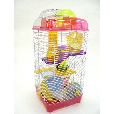 Howland 3-Level Mouse Modular Habitat Color: Pink