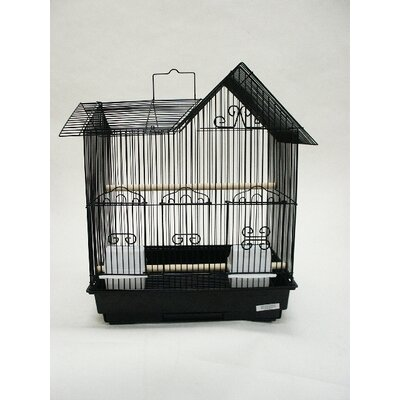 Villa Top Bird Cage Color: Black