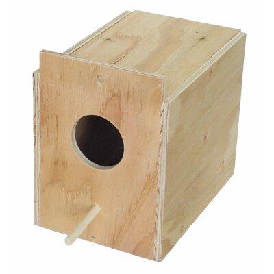 Wooden Nest Box Size: 9 H x 6.5 W x 10 D