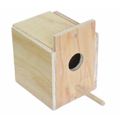 Lila Wooden Nest Box Size: 5 H x 5 W x 5 D