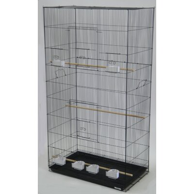 Lot of Three X-Large Bird Cage Color: Black