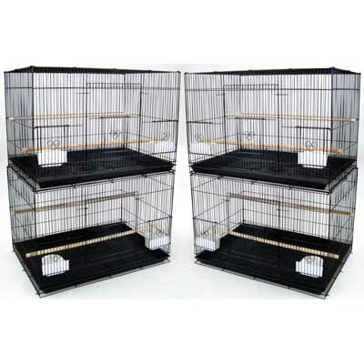 Lot of Four Medium Bird Cage Color: Black