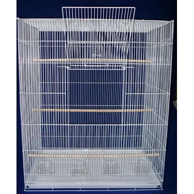 Large Bird Cage Color: White