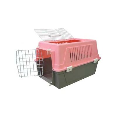 Plastic Small Animal Pet Carrier Color: Pink