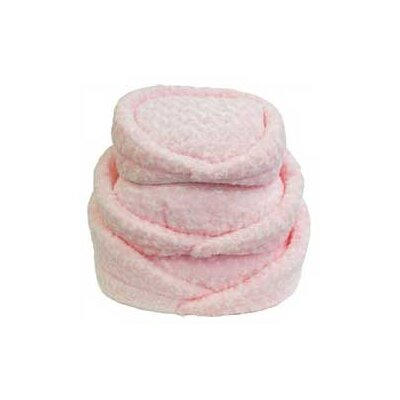 Lobo Plush Soft Pet Bed Cushion Size: 7 H x 14 W x 16 D, Color: Pink