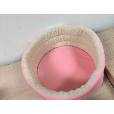 Round Soft Pet Bed Size: 7 H x 14 W x 14 L, Color: Pink