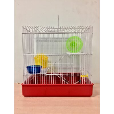 3-Level Small Animal Modular Habitat Color: Red