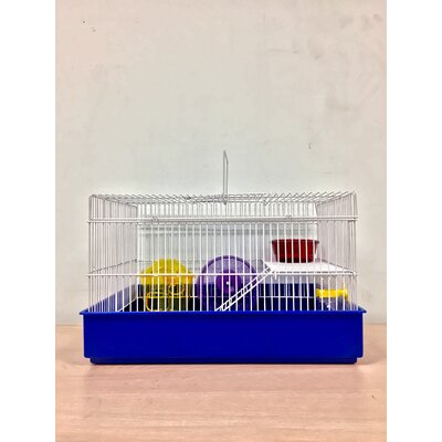 2-Level Small Animal Cage Color: Blue