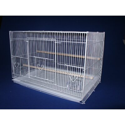 Small Bird Cage Color: White
