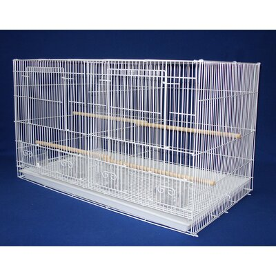 Small Bird Cage with Divider Color: White