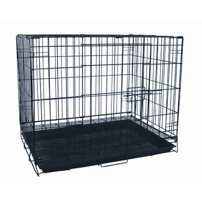 Foldable Light Duty Door Pet Crate Size: 24 (20 H x 17 W x 24 L)