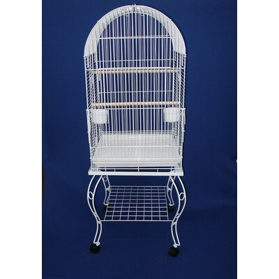 Dome Top Parrot Bird Cage with Stand 0204WHT
