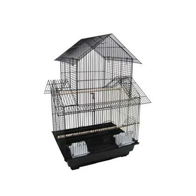 Pagoda Top Bird Cage Color: Black