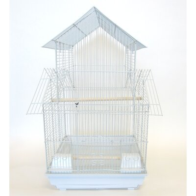 Pagoda Top Bird Cage Color: White