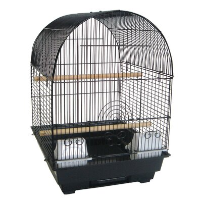 Round Dome Top Bird Cage 5604BLK