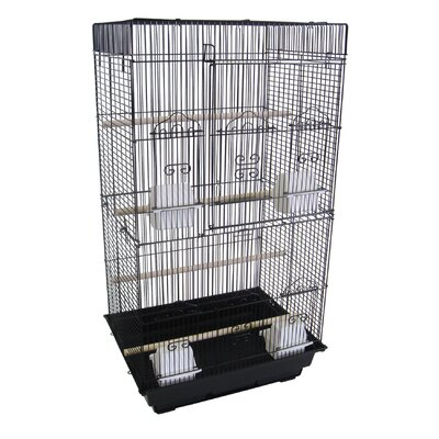 Tall Flat Square  Bird Cage