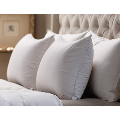 Medium Sleeping 360 Thread Count Filled Down Alternative Pillow Size: Euro