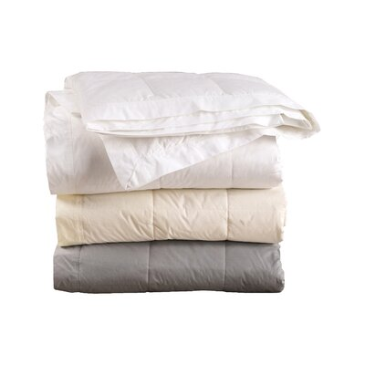 230 Thead Count Down Filled Blanket with Cotton Shell Color: White, Size: King