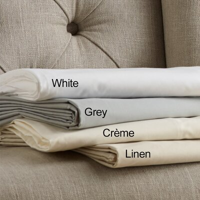 100% Cotton Sateen Sheet Set 400 Thread Count Size: King, Color: Cr�me