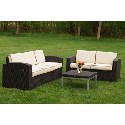 Cielo 3 Piece Deep Seating Group with Cushions