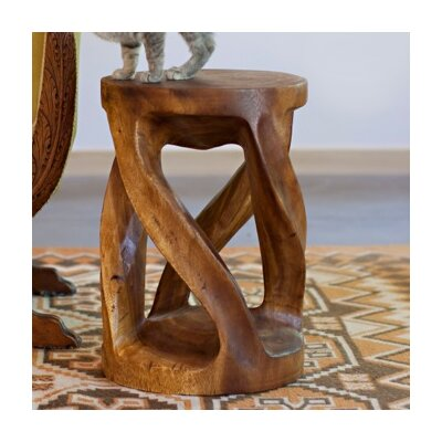 Santa Fe Springs Circular Twist End Table Color: Wallnut