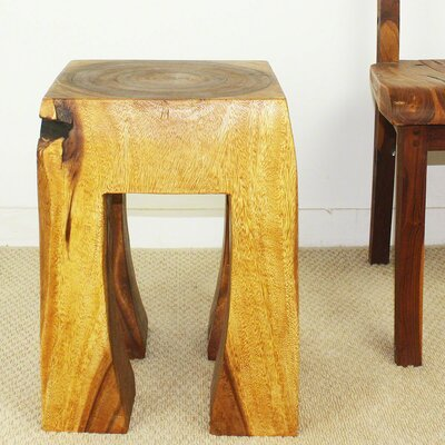 Blocky Thai End Table Color: Oak