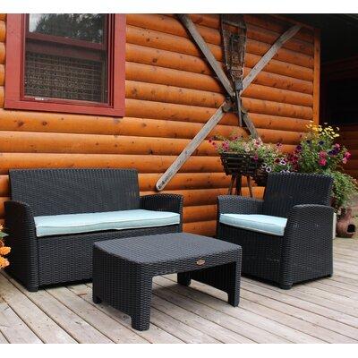 Gardenia 3 Piece Lounge Seating Group with Cushion