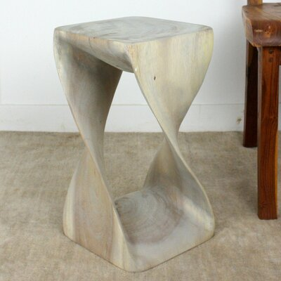 Twist End Table Color: Gray