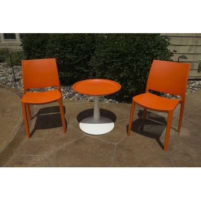 Farley 3 Piece Bistro Set Color: Orange