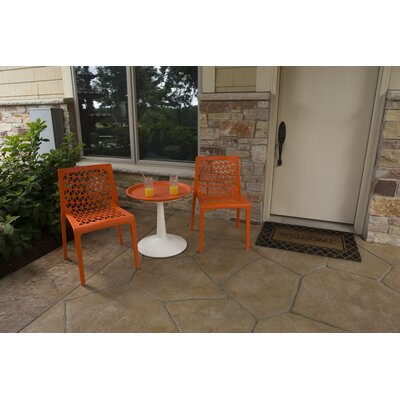 Catherine 3 Piece Bistro Set Color: Green