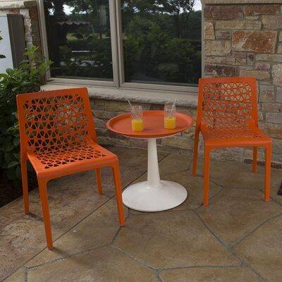 Catherine 3 Piece Bistro Set Color: Orange