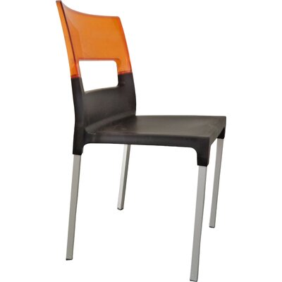 Lambeth Cantor Guest Chair (Set of 4) Finish: Black/Orange
