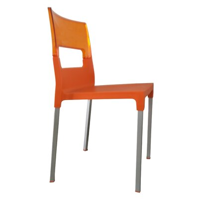 Lambeth Cantor Guest Chair (Set of 4) Finish: Orange