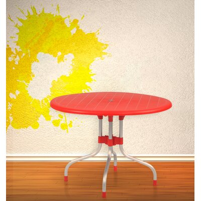 Rockwell Delfino Dining Table Color: Red