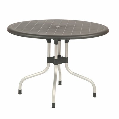 Rockwell Delfino Dining Table Color: Black