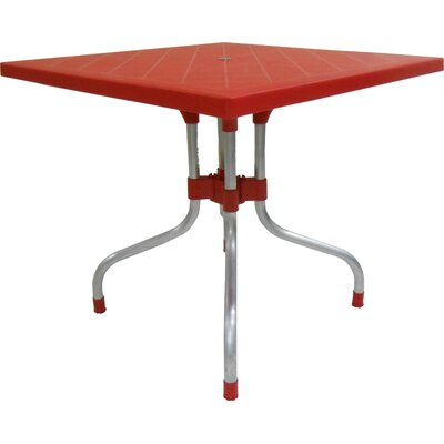 Rockwell Lyra Dining Table Color: Red