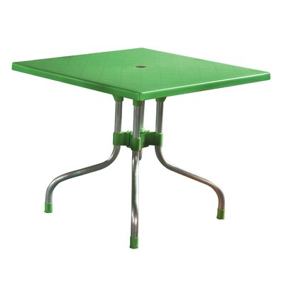 Rockwell Dining Table Color: Green
