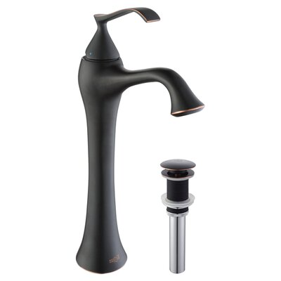 Exquisite Single Hole Single Handle Bathroom Faucet with Optional Pop Up Drain Optional Accessories: With Pop Up Drain, Finish: Oil Rubbed Bronze