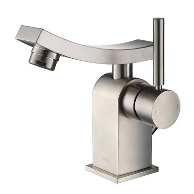 Unicus Single Hole Single Handle Bathroom Faucet with Drain Assembly Finish: Brushed Nickel