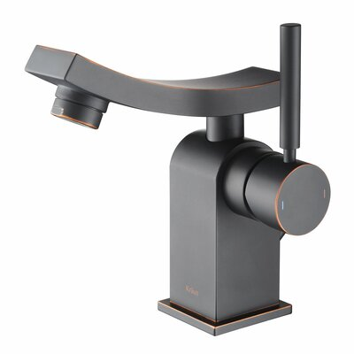 Unicus Single Hole Single Handle Bathroom Faucet with Drain Assembly Finish: Oil Rubbed Bronze