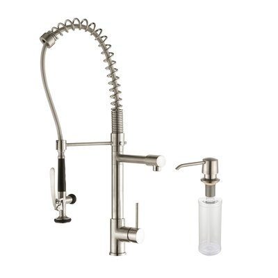 Stainless Steel 32.75 x 19 8 Piece Double Basin Undermount Kitchen Sink Set with Kitchen Faucet and Soap Dispenser Faucet Finish: Stainless Steel