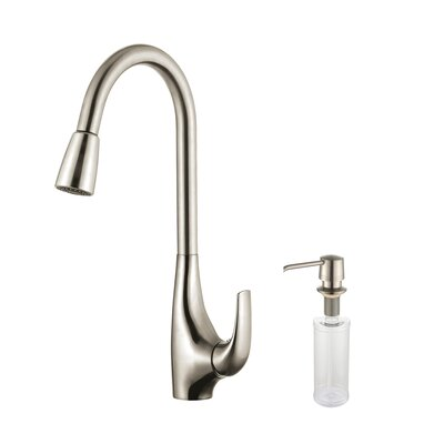 Kitchen Faucet Combos Single Handle Pull Down Standard Kitchen Faucet  Faucet Finish: Stainless Steel