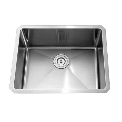 23 x 18 Undermount Kitchen Sink with Faucet and Soap Dispenser Faucet Finish: Satin Nickel