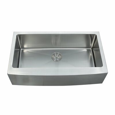 35.88 x 20.75 Farmhouse Kitchen Sink with Faucet and Soap Dispenser Faucet Finish: Stainless Steel