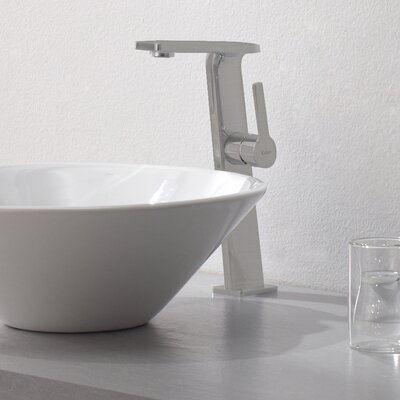 Exquisite Single Hole Single Handle Bathroom Faucet Finish: Brushed Nickel